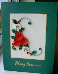 christmas card quilled paper quilling handmade holidays via