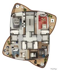neorama floor plan cyrela pininfarina 3d 3 storey house