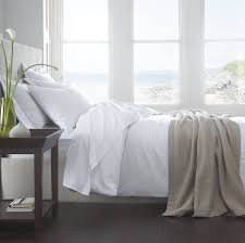 vermont white organic cotton 200 tc percale bed linen by the fine