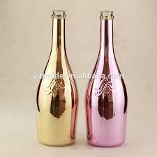 unique shaped wine bottles cool design spray painting bottle gold chagne bottle glass