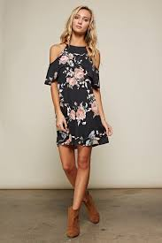 cold shoulder dress fall in with this floral printed sleeve cold shoulder