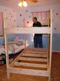 free diy bunk bed plans free wood project and diy
