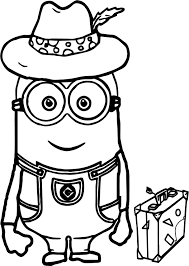 minions travel coloring wecoloringpage