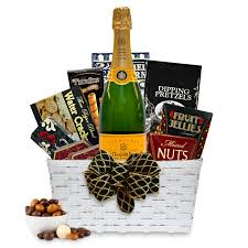 wine gifts delivered buy veuve clicquot brut yellow label chagne gift basket online