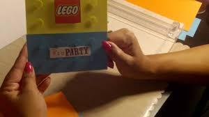 Lego Invitation Cards Lego Invitation Youtube