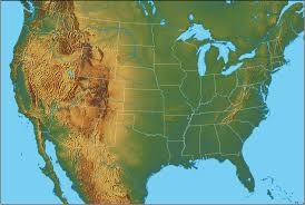 america physical map physical map of the united states united states of america