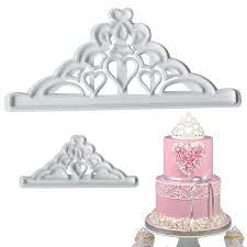 online decorating tools crown plastic fondant cutter cake mold fondant mold fondant cake
