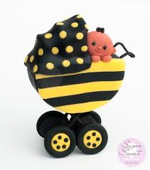 bumble bee cake topper baby stroller cake topper cakecentral