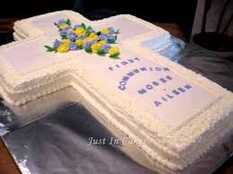 first communion cake youtube