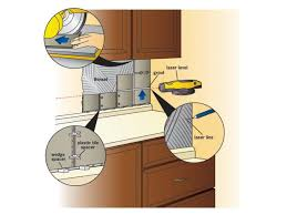 kitchen tile backsplash installation how to install a tile backsplash how tos diy