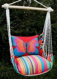 hammock swing chair this would be my backyard happy place
