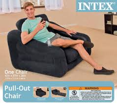 Inflatable Chair And Ottoman by Intex Inflatable Pull Out Chair And Twin Bed Air Mattress Sleeper