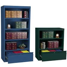 Metal Bookcases All Metal Bookcases W File Drawer By Sandusky Lee Options
