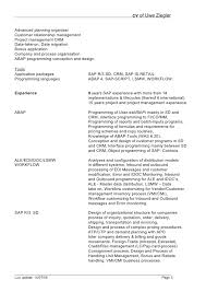 Sample Resume For It Companies by Sap Bi Sample Resume Resume Cv Cover Letter Collection Of