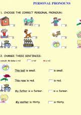 english worksheets pronouns worksheets page 1