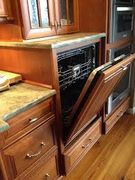 raised dishwasher cabinet perfect for wheelchair accessibility