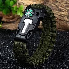 fire cord bracelet images Fashion survival bracelet flint fire starter gear escape whistle jpg