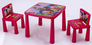 table and chairs plastic disney plastic table and chair set