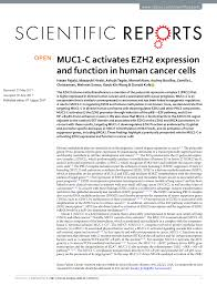Gluta Vire muc1 c activates ezh2 expression and pdf available