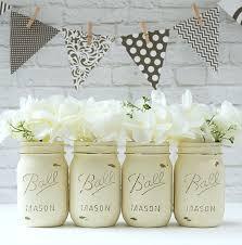 Mason Jar Vases For Wedding Annie Sloan Chalk Paint Mason Jars Mason Jar Crafts Love