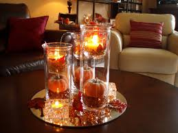 decoration beautiful coffee table centerpieces with candle in