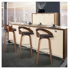 Brown Leather Bar Stool Sonia 30