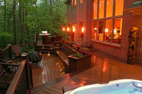 Pool Landscape Lighting Ideas by Exterior Pool Landscaping Designs Modern Garden Ideas Excerpt Deck