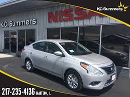nissan versa o d off new 2017 nissan versa 1 6 sv 4d sedan in mattoon ni4347 kc