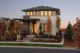 modern color of the house contemporary house with fancy orange brown paint combine grey