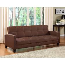 Cool Couch Beds Furniture Fabulous Faux Leather Futon For Living Room Decor