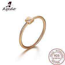 sted rings elegance heart shaped stackable ring 925 sterling silver