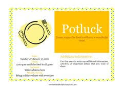 Potluck Email Template printable potluck invitations potluck invitation office potluck