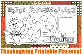12 free printable thanksgiving activity placemats and pages