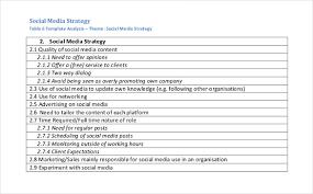 Plan Social Media Social Media Strategy Template 8 Free Pdf Documents Download