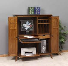 Computer Armoire Desk Cabinet Small Computer Desk Armoire Home Design