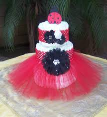lady bug tutu diaper cake kit it u0027s a baby by thetutuforest