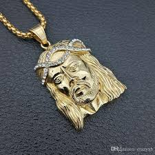 gold jesus pendant necklace images Wholesale big jesus christ piece head face pendant necklaces gold jpg