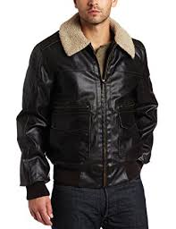Levis Bomber Jacket Levi U0027s Men U0027s Faux Leather Aviator Bomber Brown Small At Amazon