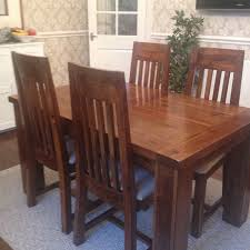 Home Furniture Dining Sets Solid Pine Dining Table And Chairs Picclick Uk Solid Wood Dining