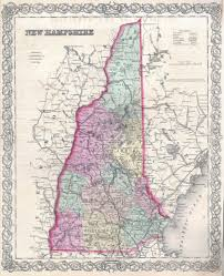 United States Maps With Cities by Large Detailed Old Administrative Map Of New Hampshire State With
