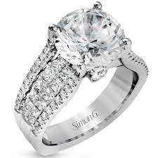 large diamond rings g large center cathedral style diamond engagement