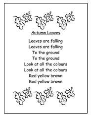 autumn leaves possible circle time song thanksgiving