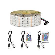 usb powered led light rgb led light strip 5050 smd tv led adhesive ribbon tape 5v usb