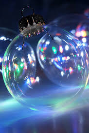 clear glass ornament balls