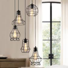 Cage Pendant Light Klemon Metal Wire Cage Hanging Lamp