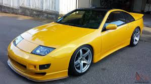 nissan yellow 300zx twin turbo 2 door coupe 5 speed