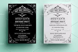 vintage invitations vintage birthday invitation invitation templates creative market