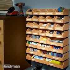 garage shelving plans hardware organizer garage shelving