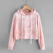 blouse tumbler 2018 s blouse hooded sweatshirts velvet pink color