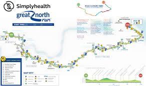 Map A Run Route by Simplyhealth Great North Run Half Marathon
